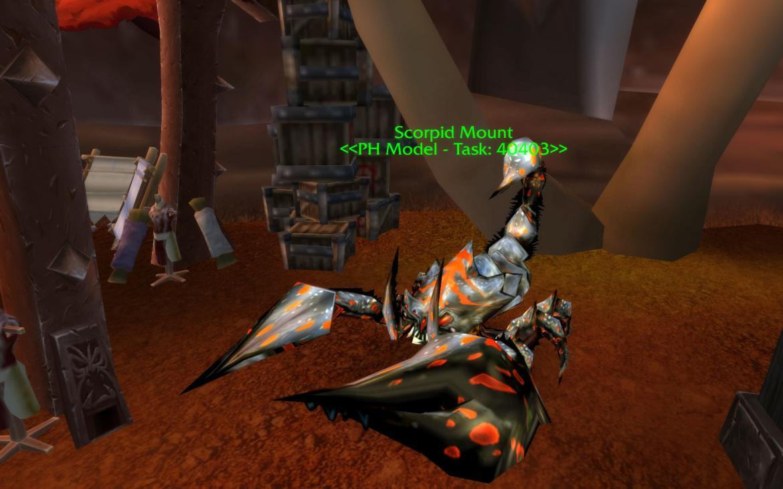 Scorpid Mount <<PH Model - Task: 40403>>