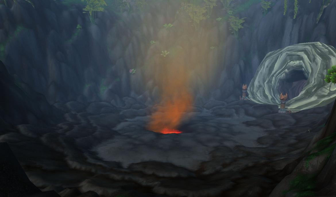 Lost Isles volcano entrance
