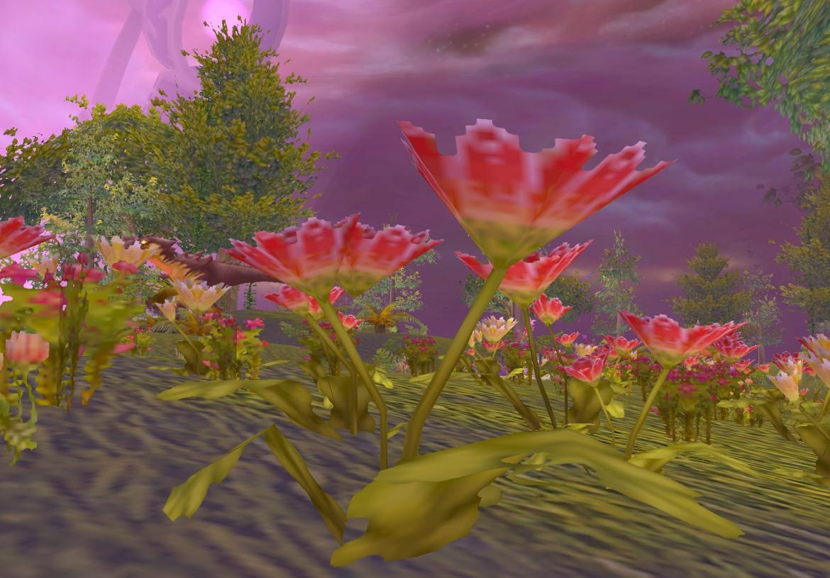 Flower at a BioDome in Netherstorm