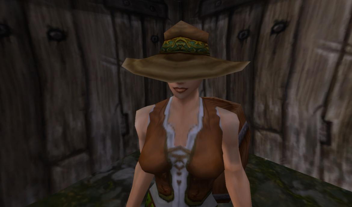 Female Human hiding on a shack at the Stables