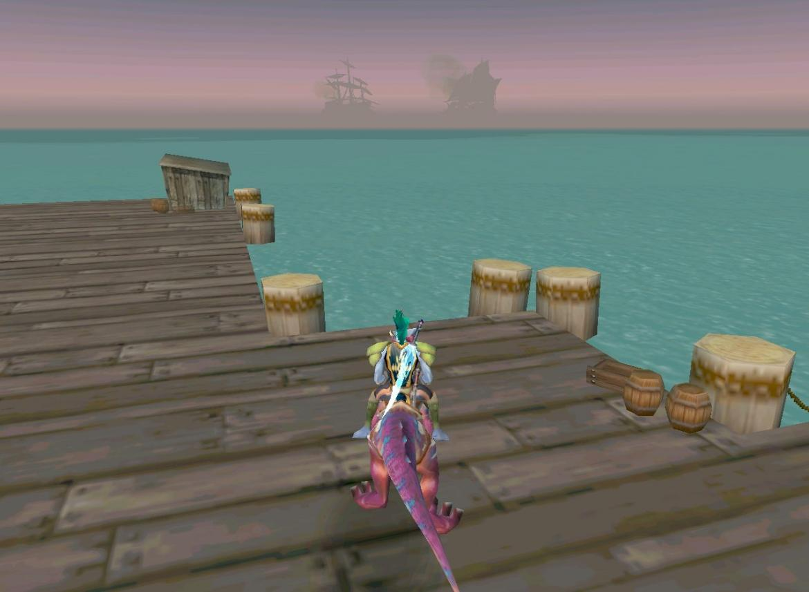 Troll on Raptor looking at ships in the distance