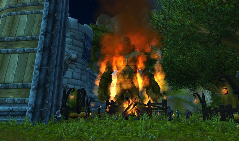 Burning Wickerman at Stormwind