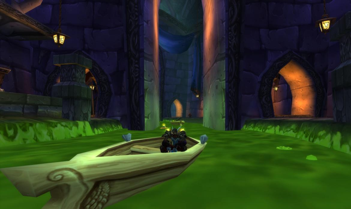 Troll Sitting in a boat on the Undercity canals