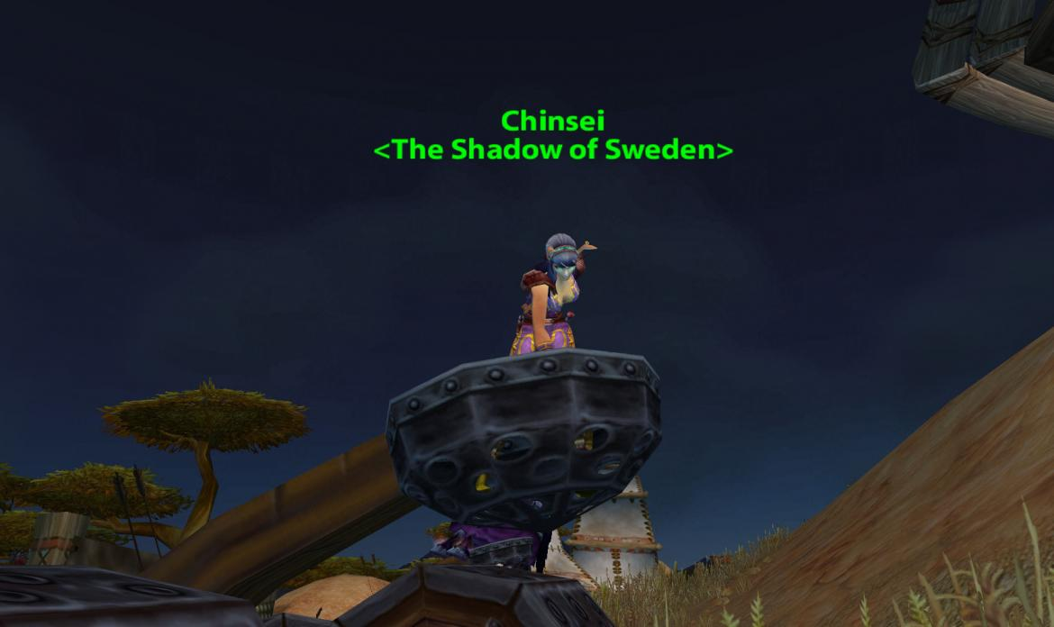Chinsei <The Shadow of Sweden> dancing in a catapult