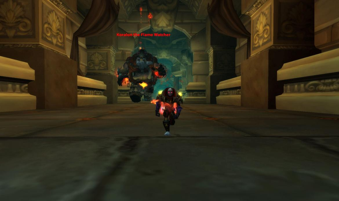 Running from Koralon the Flame Watcher