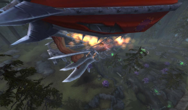 Crashing Horde zeppelin