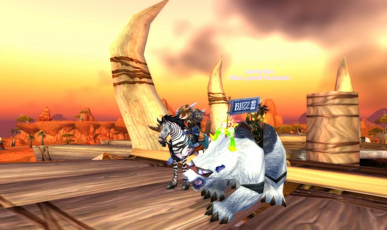 Lantasha <Nex quod Senium> riding the BlizzCon bear