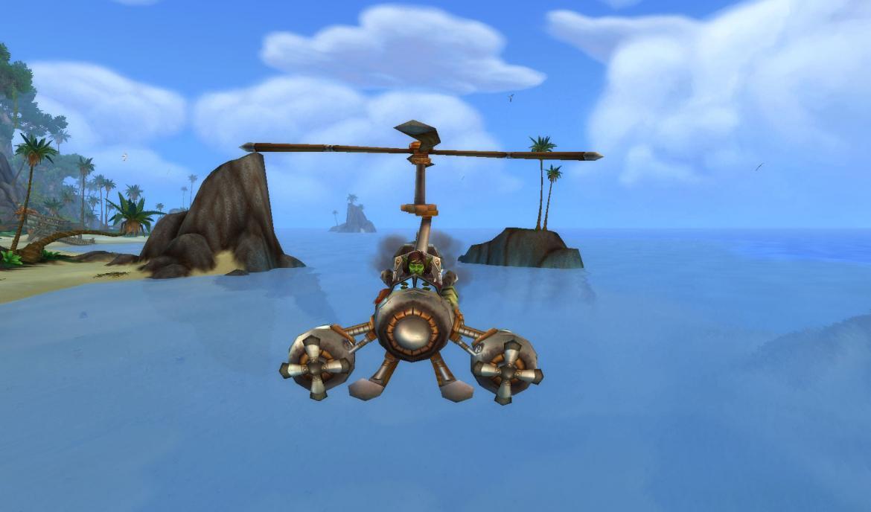 Goblin in a flying machine