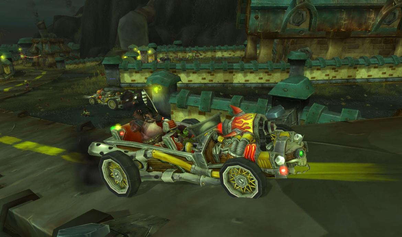 Riding a car