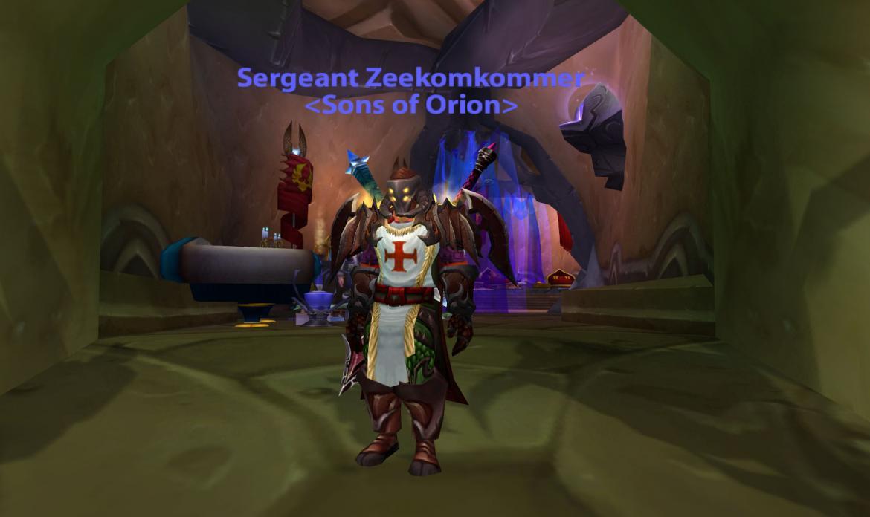Sergeant Zeekomkommer <Sons of Orion>