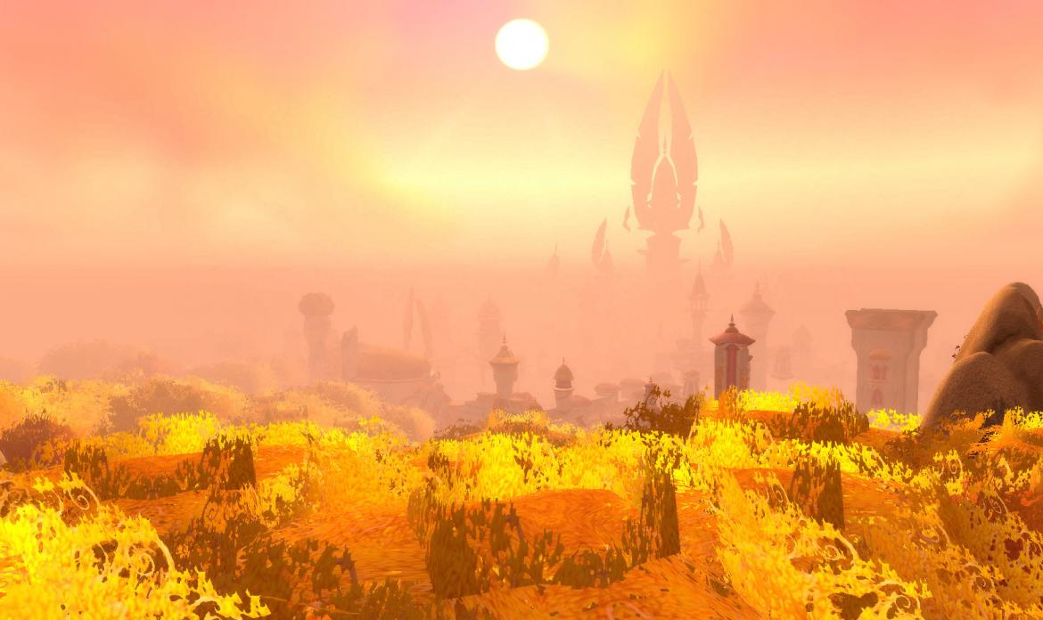 The sun over Silvermoon city