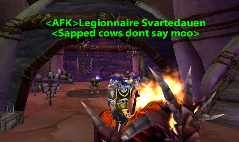 Legionnaire Svartedauen <sapped cows dont say moo>