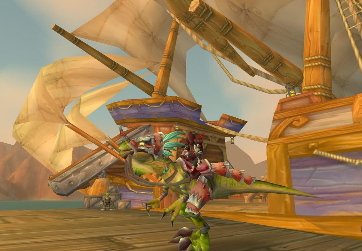 Bloodfang Rogue on Razzashi Raptor