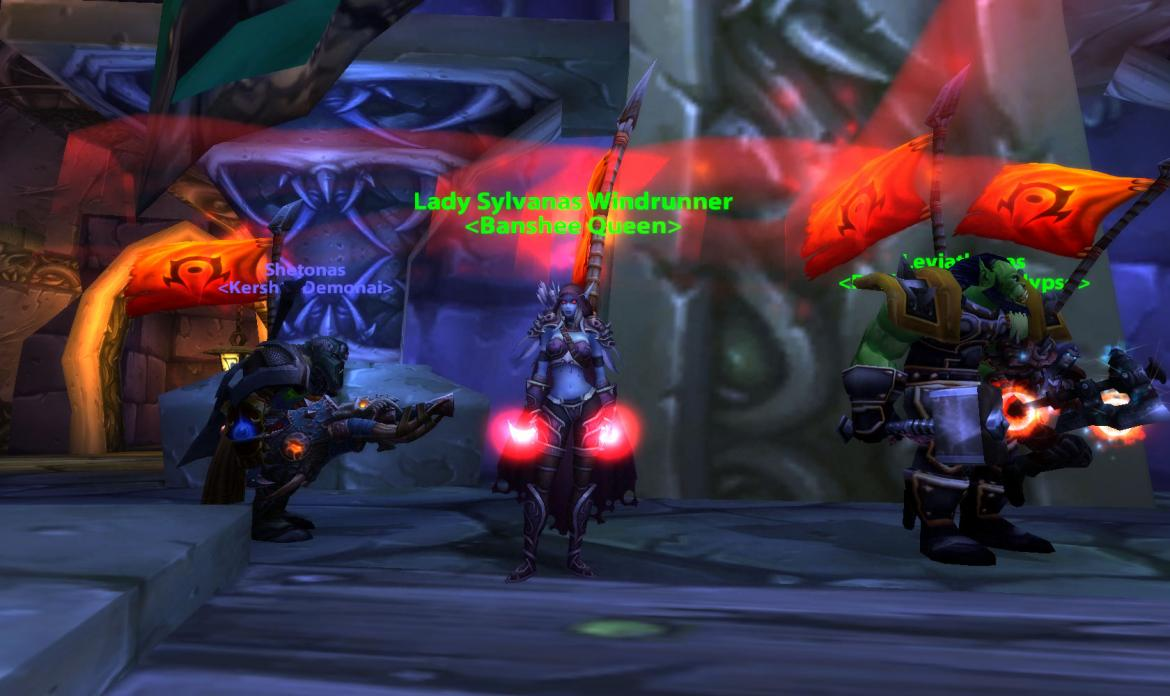 Lady Sylvanas Windrunner <Banshee Queen> and Thrall <Warchief>