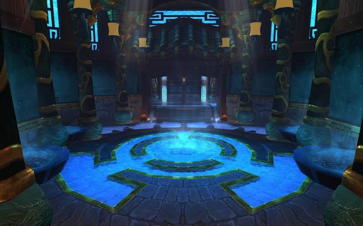 Mists of Pandaria -- Inside the Temple of the Jade Serpent