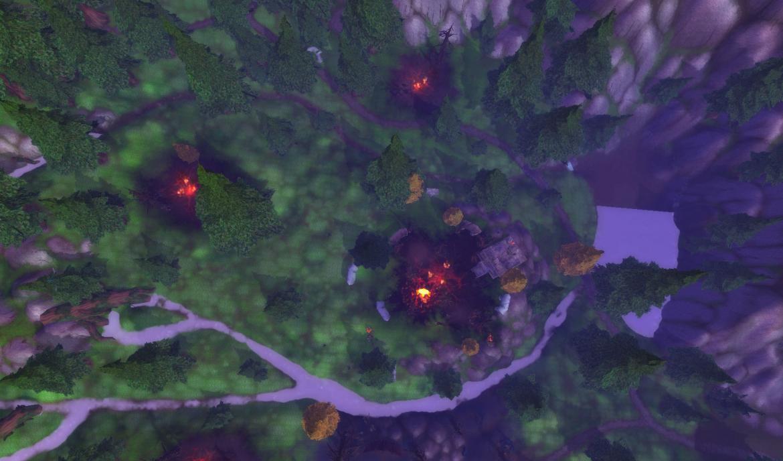 Mount Hyjal Fires