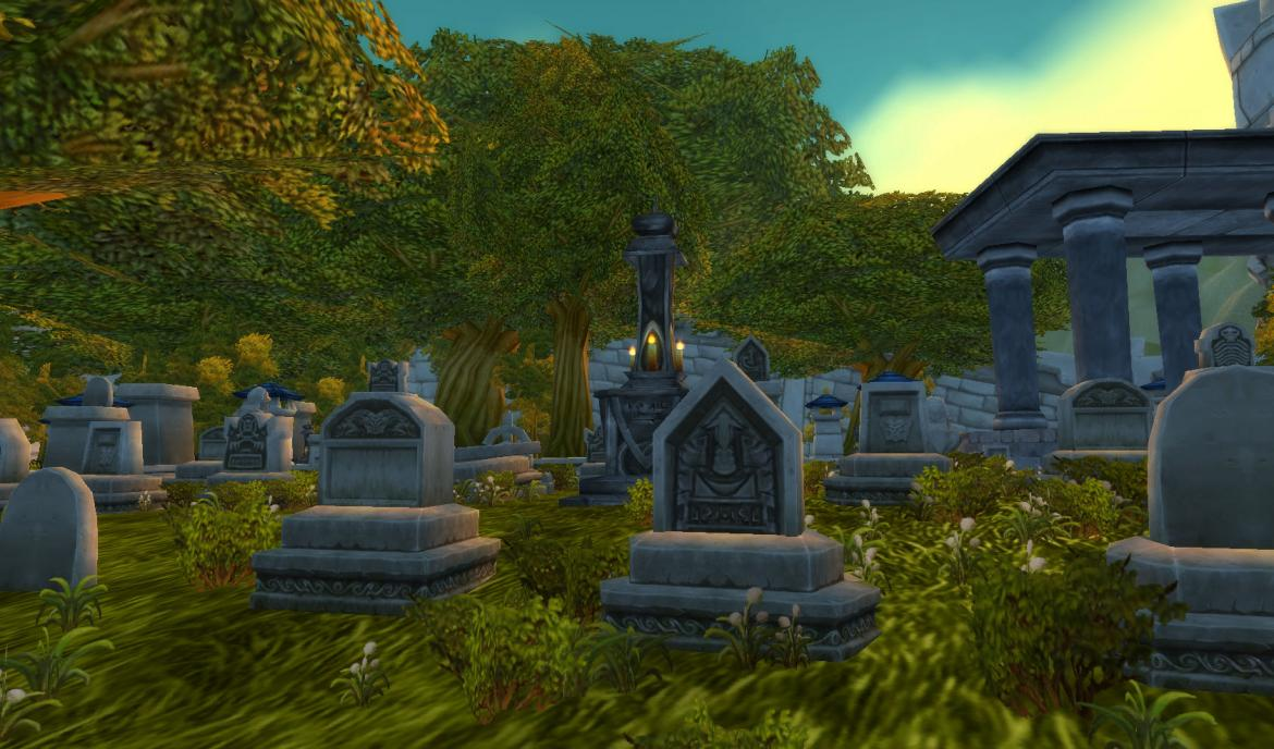 Stormwind City Cemetery Graves