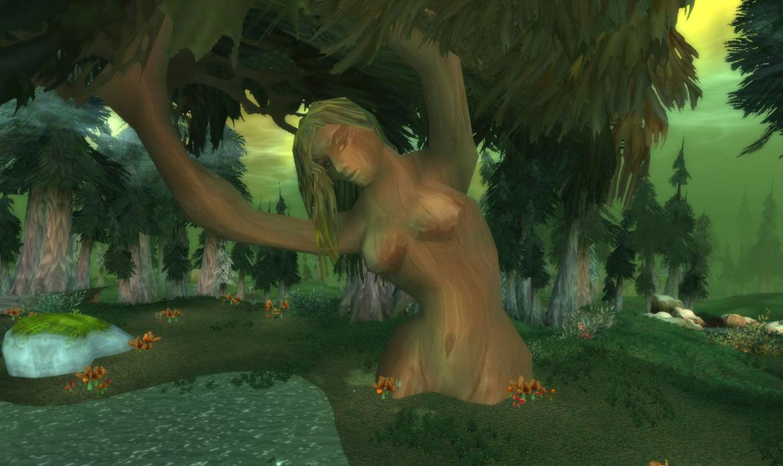 Woman shaped tree