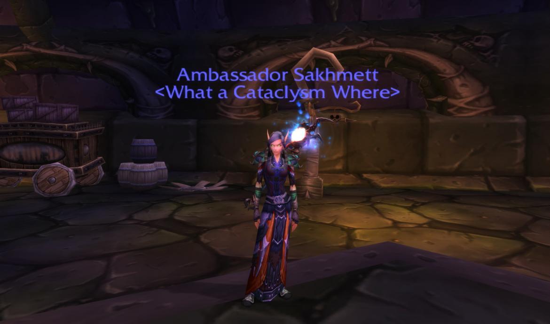 Ambassador Sakhmett <What a Cataclysm Where>