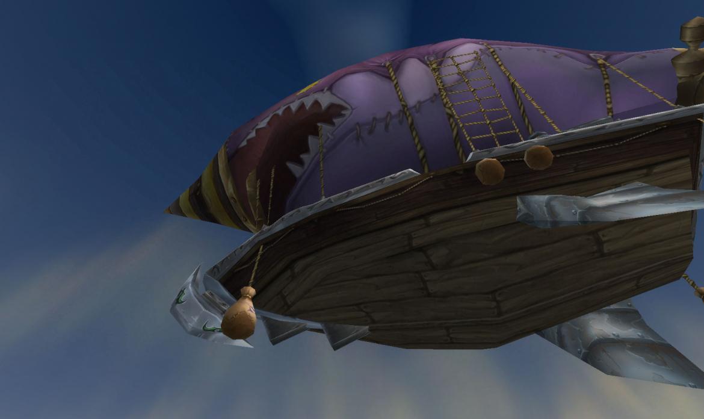 Zeppelin flying over
