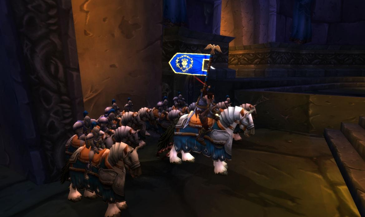 King Varian Wrynn and his guards in The Undercity