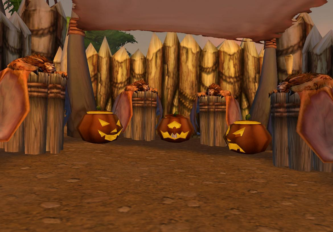 Pumpkins at the Flight Master in The Grom'Grol Basecamp