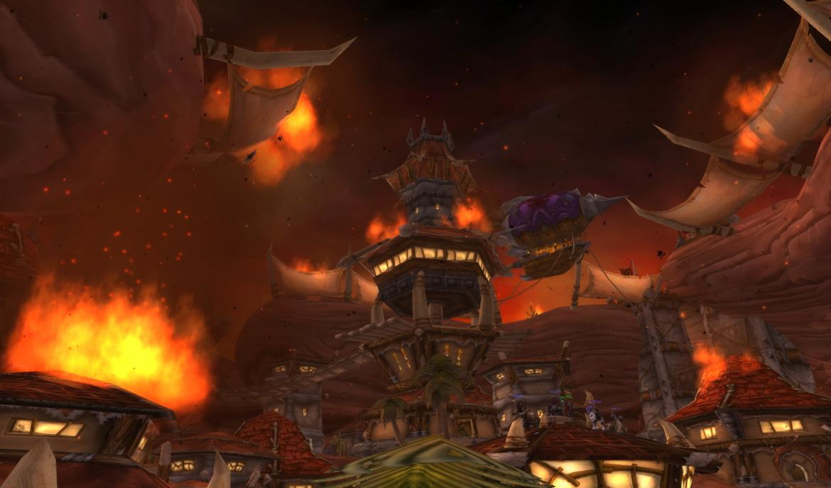 Orgrimmar on fire
