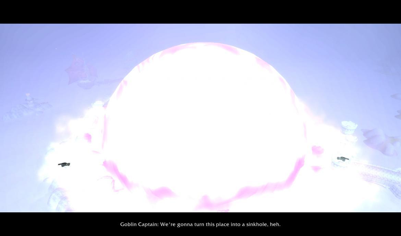 Goblin bomb vaporizing Theramore Isle