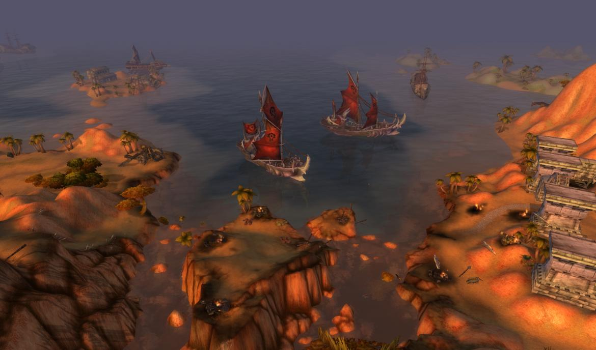 Horde boats in front of Northwatch Hold