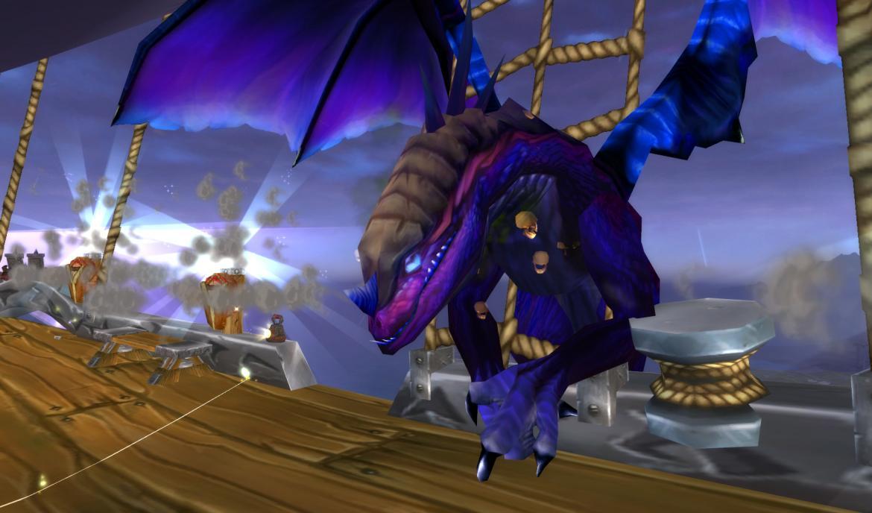 Dragon Attacking a Zeppelin