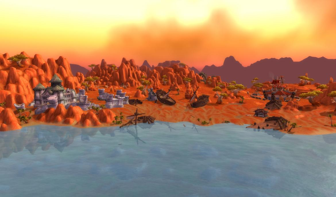 Stranded ships on The Scuttle Coast