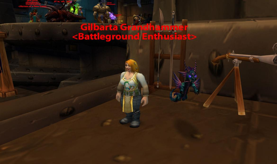 Gilbarta Grandhammer <Battleground Enthusiast> with her Essence of Competition