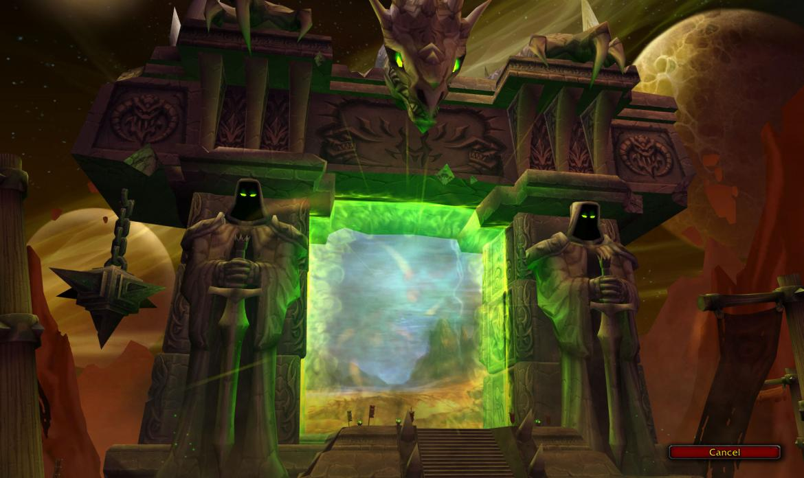 The Burning Crusade login screen