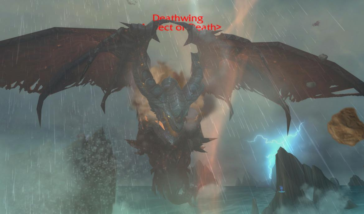 Deathwing over The Maelstrom