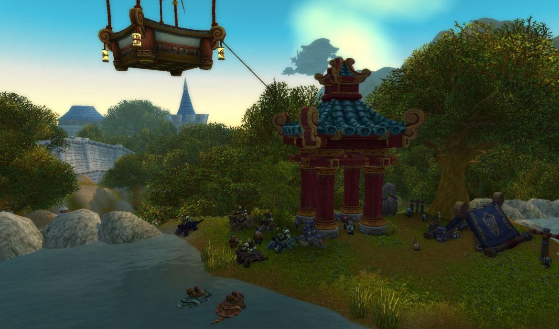 Pandaren camp in Stormwind