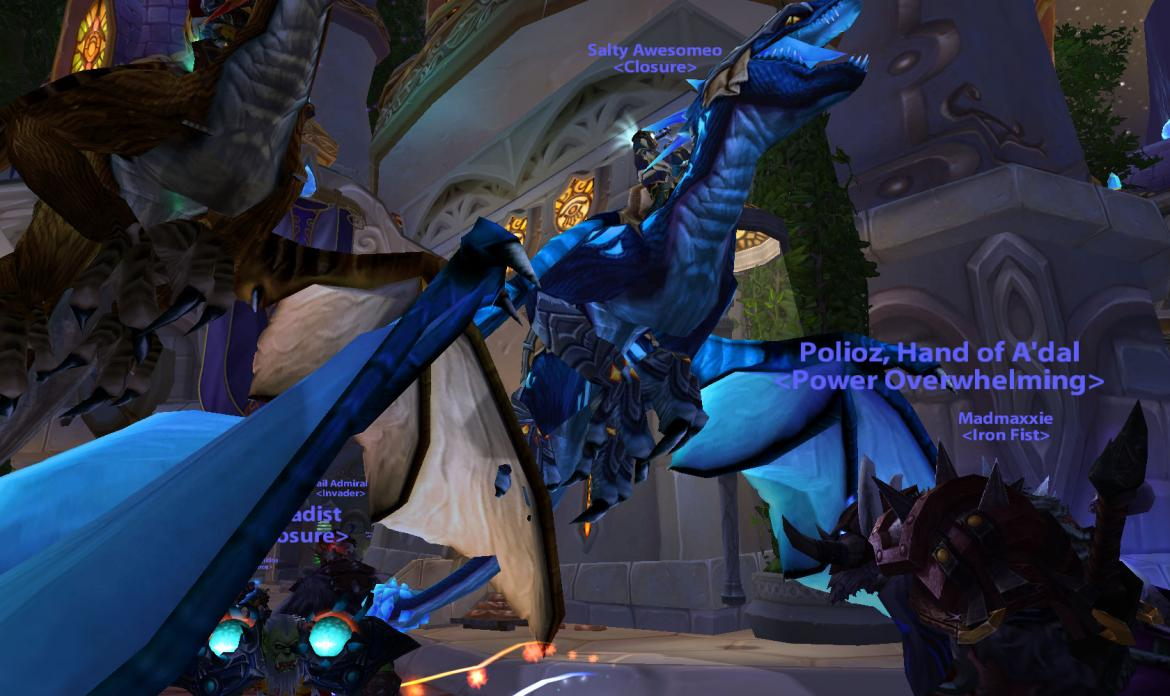 Blue drake mount ownt by Salty Awesomeo <Closure>