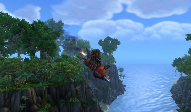 Goblin riding a rocket