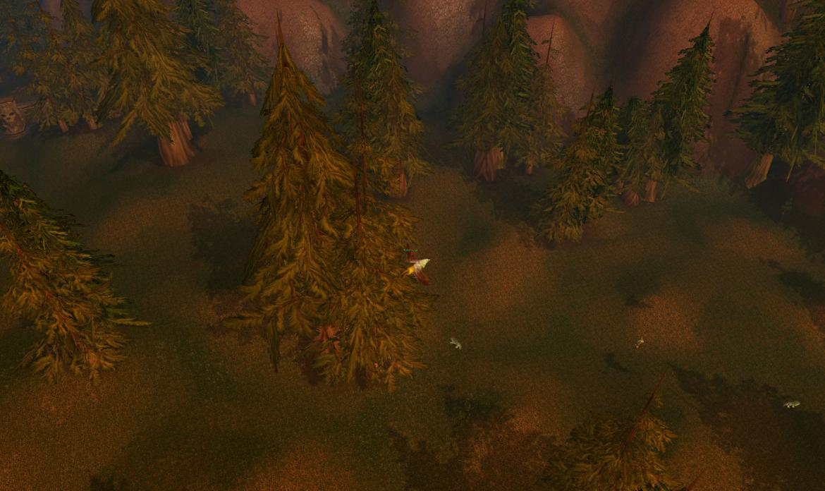 Gryphon flying over a forest