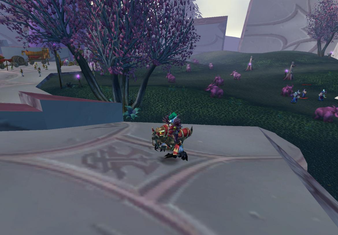Pink Elekks at The Exodar