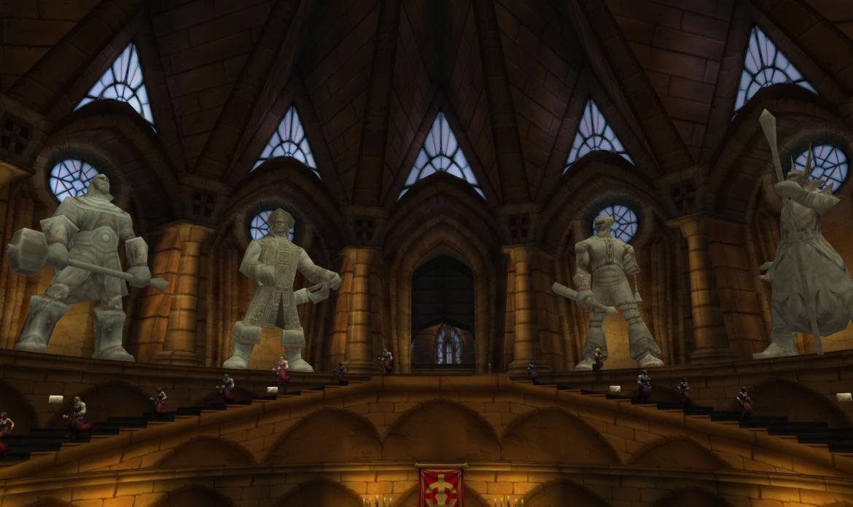 Scarlet Monastery statues