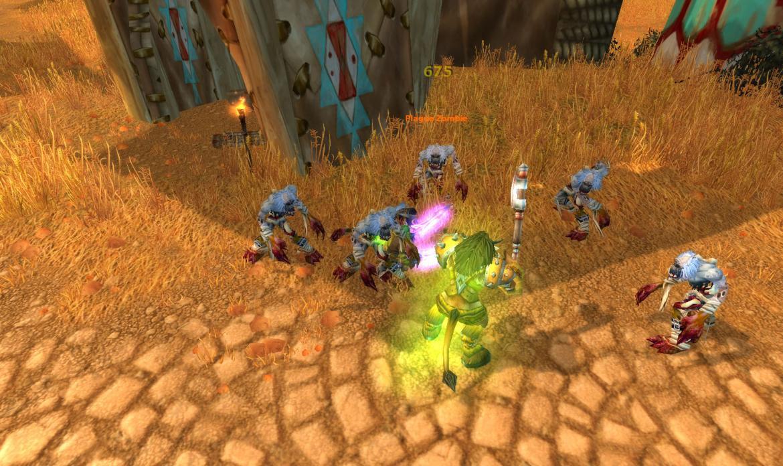 Plague Zombies killing a Crossroads guard