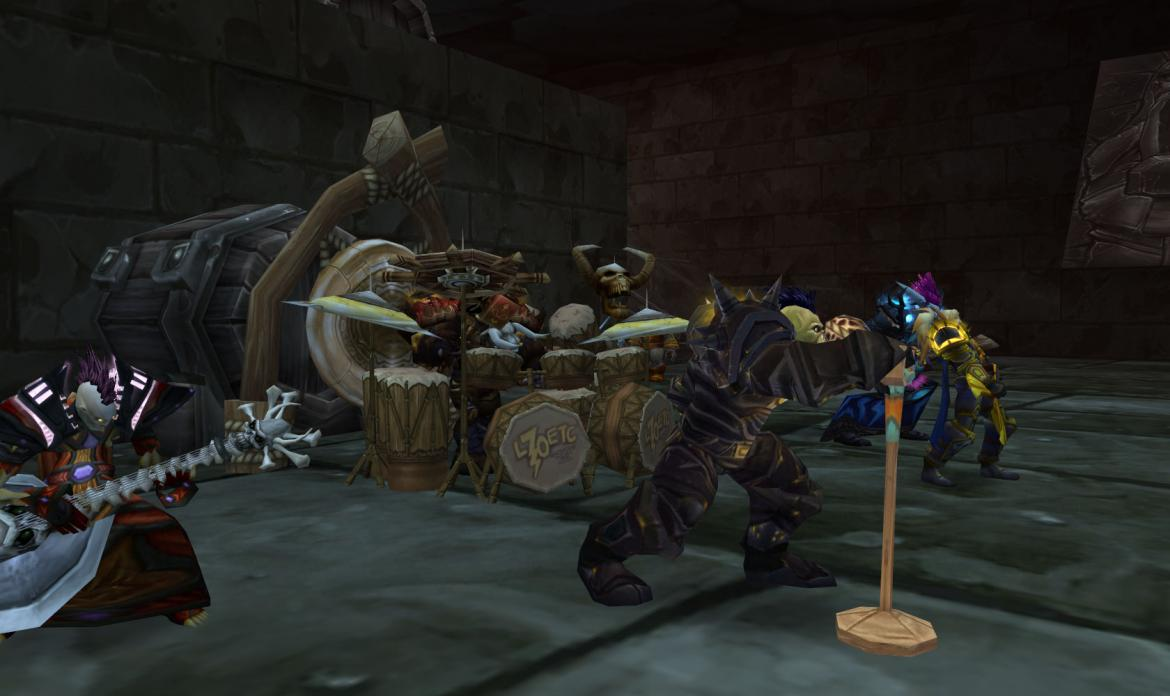Tauren Chieftains performing in a bar