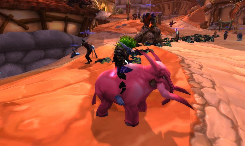 Riding a Pink Elekk