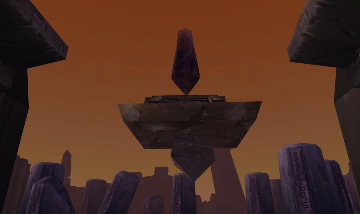 Floating obelisk
