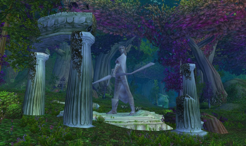 Elf statue ruins