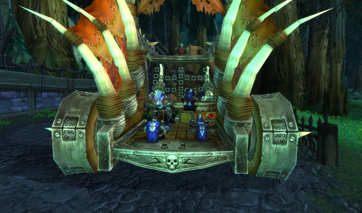Riding on the back of the Horde Coffin Hauler