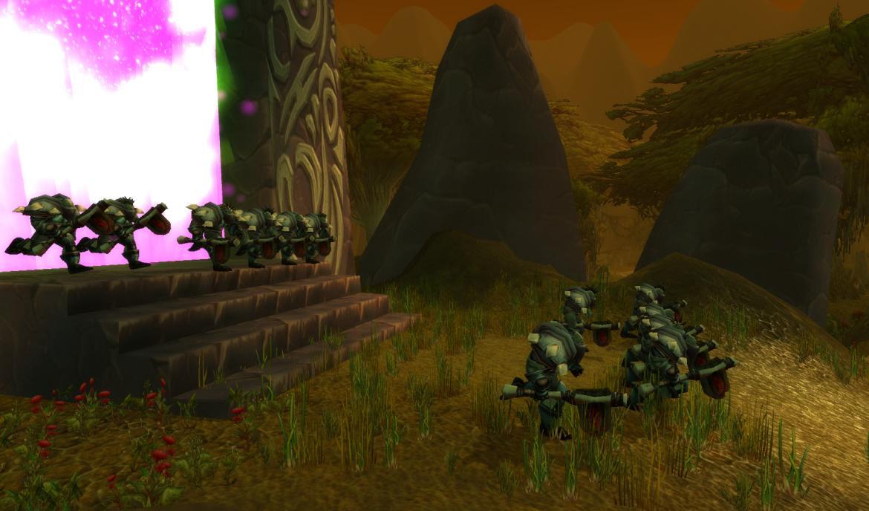 Orcs coming through the Dark Portal