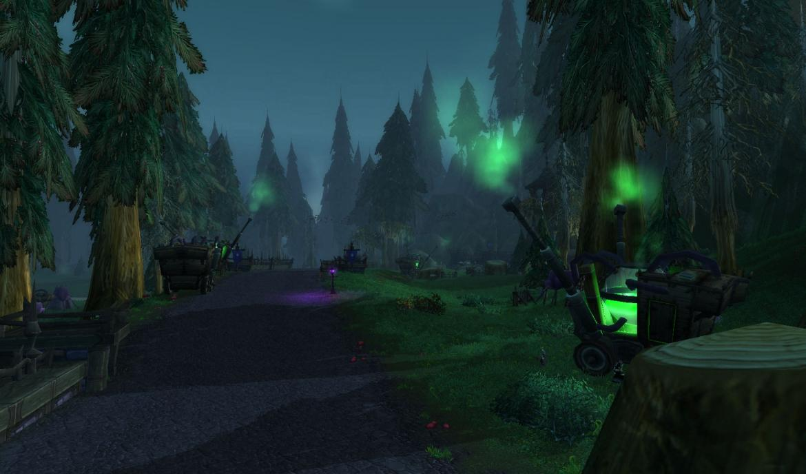 The road from The Undercity to Hillsbrad Foothills