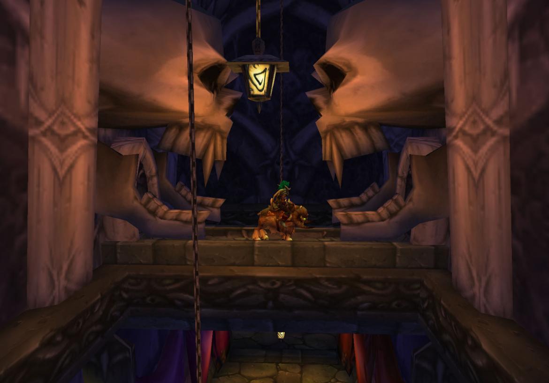 Sneaking around the secret Undercity corridors