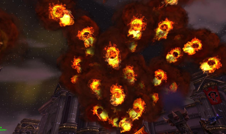 Fireballs in the air